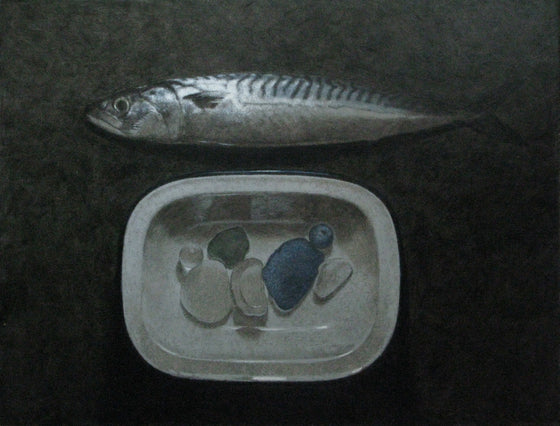 Mackerel, Dish and Sea Glass