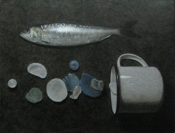 Sardine, Cup and Sea Glass