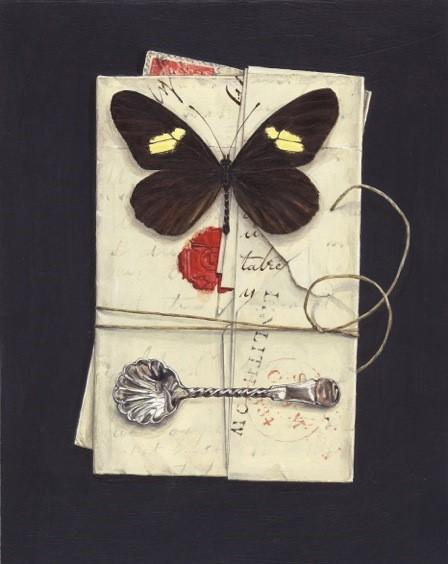 Butterfly with Letters and Spoon