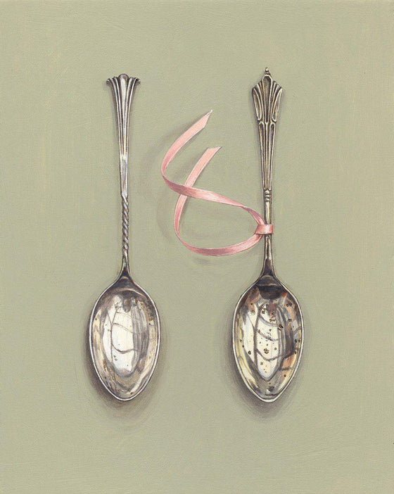 Coffee Spoons with Pink Ribbon