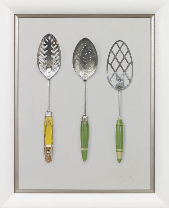 Slotted Spoons with Spatula