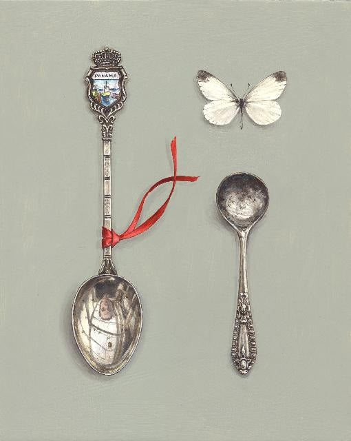 Souvenir Spoon with Red Ribbon and Butterfly