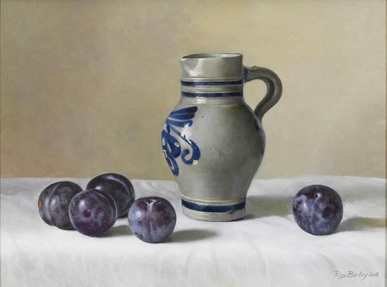 Westerwald Pot with Plums
