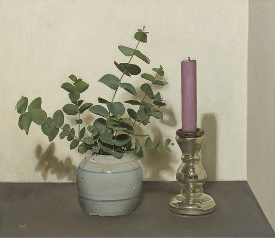 Candlestick and Eucalyptus