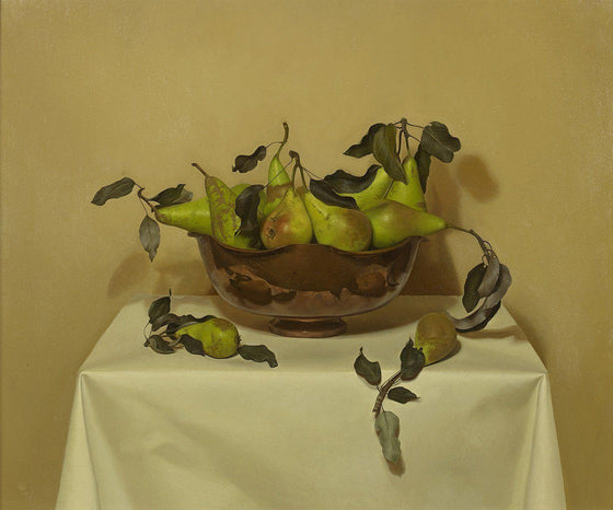 Pears in Copper Bowl