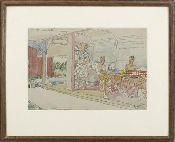 Bathing hut, 1927 (Framed)