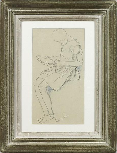 Girl reading (Framed)