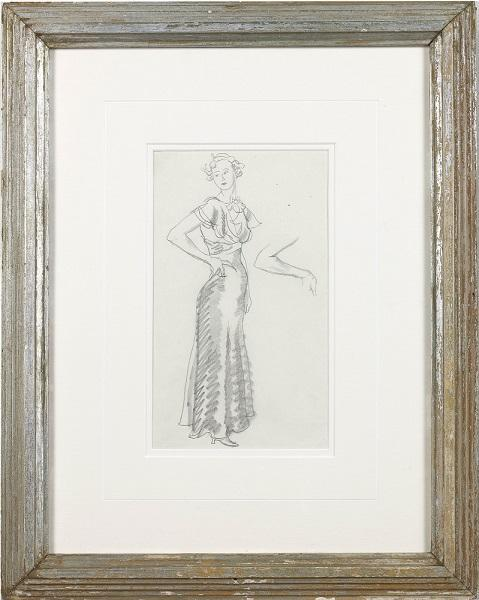 Model in Evening Dress (Framed)