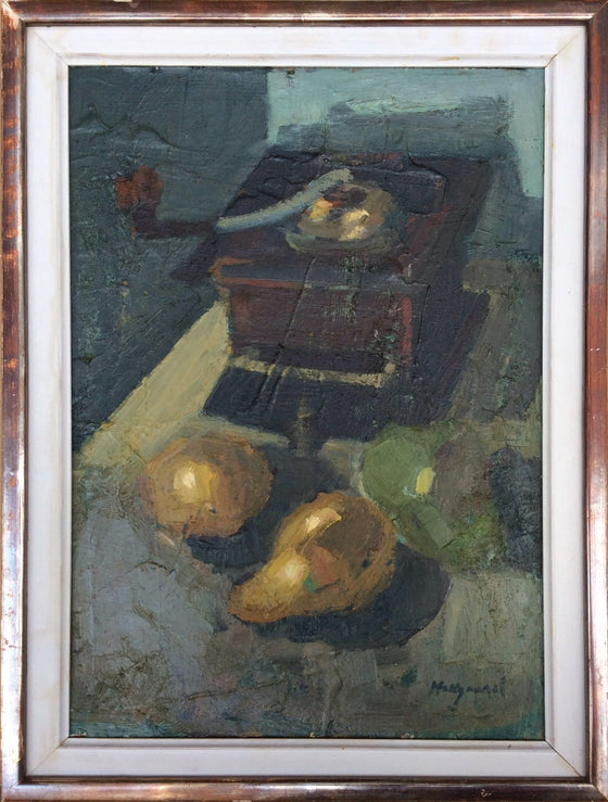 Still Life with Coffee Grinder and Pears