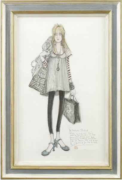 The Fashion Student (Framed)