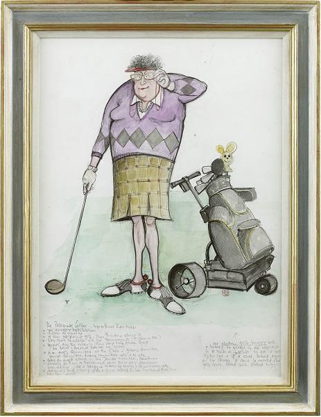 The Passionate Golfer (Framed)