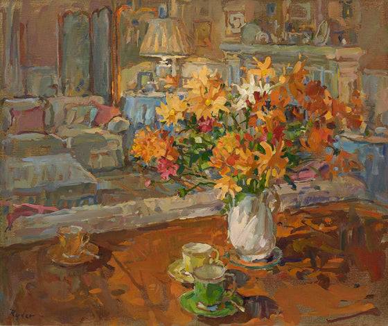 Susan Ryder Coffee and Chrysanthemum
