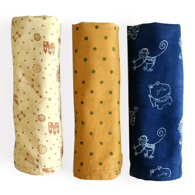 3-PC SWADDLE SET
