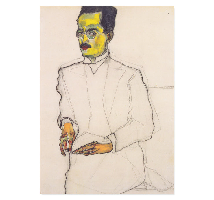 Portrait of a Gentleman - Egon Schiele art print