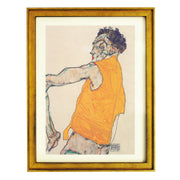 Self-portrait in a Yellow Vest - Egon Schiele  art print