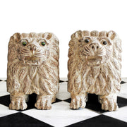 Pair of Recumbent Lions
