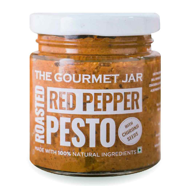 Roasted Red Pepper Pesto (with Chironji seeds)