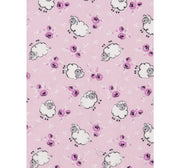 Sheep Print Baby Blanket