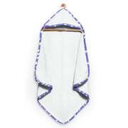 Purple and White Spots Organic Hooded Towel