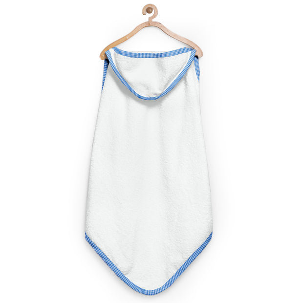 Blue Checks Organic Hooded Towel