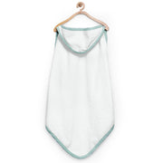 Green Checks Organic Hooded Towel
