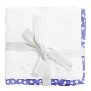 Organic Purple and White Spots Junior Towel