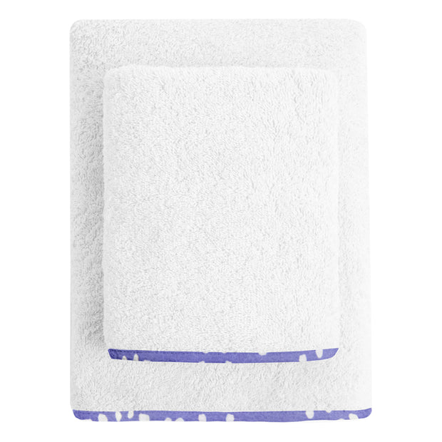 Purple and White Spots Organic Junior Towel set