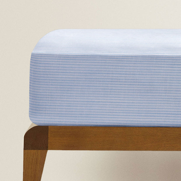 Fitted Single Sheet Set Blue and White Stripe