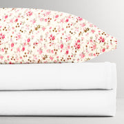 Fitted Single Sheet Set Floral White