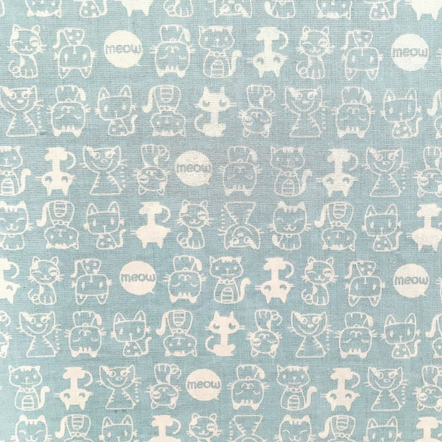Fitted Crib Sheet Blue Cats