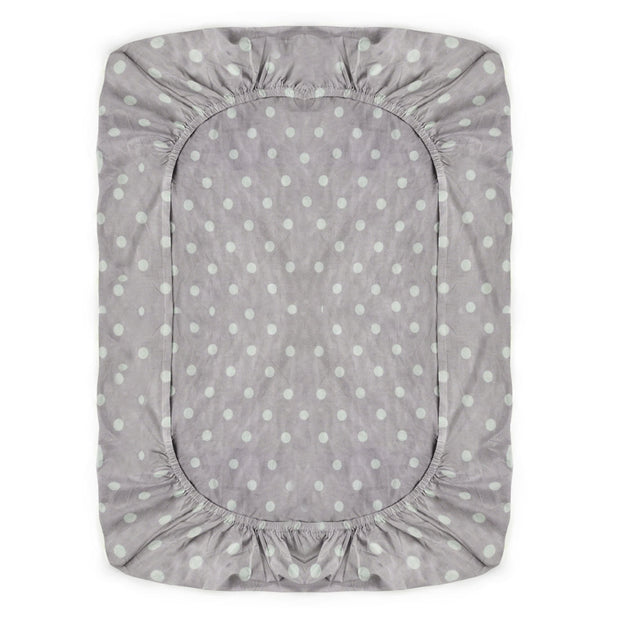 Fitted Crib Sheet Mauve and White Dot