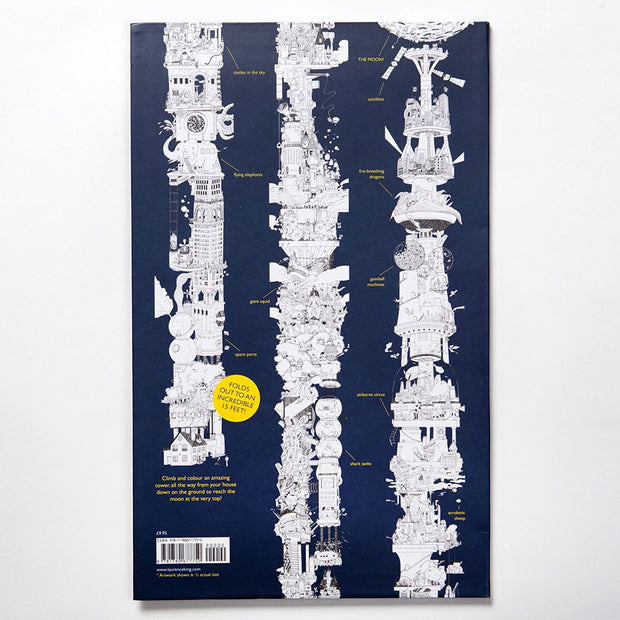 To the Moon : The Tallest Colouring Book in the World Book