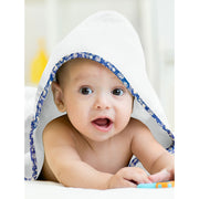 Organic Floral Blue Hooded Towel Set