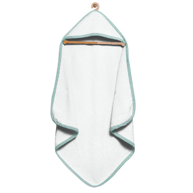Organic Green Checks Hooded Towel Set