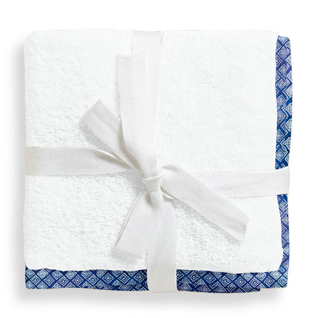Organic Blue and White Dot Junior Towel
