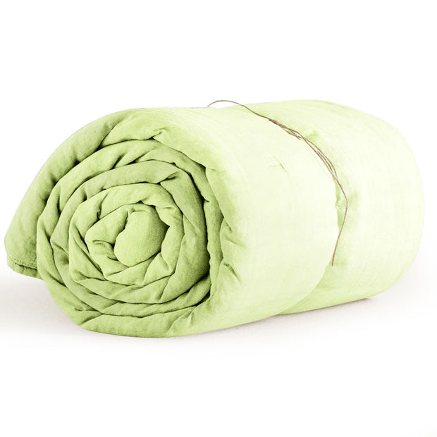 Organic Single Duvet Cover Lime Green