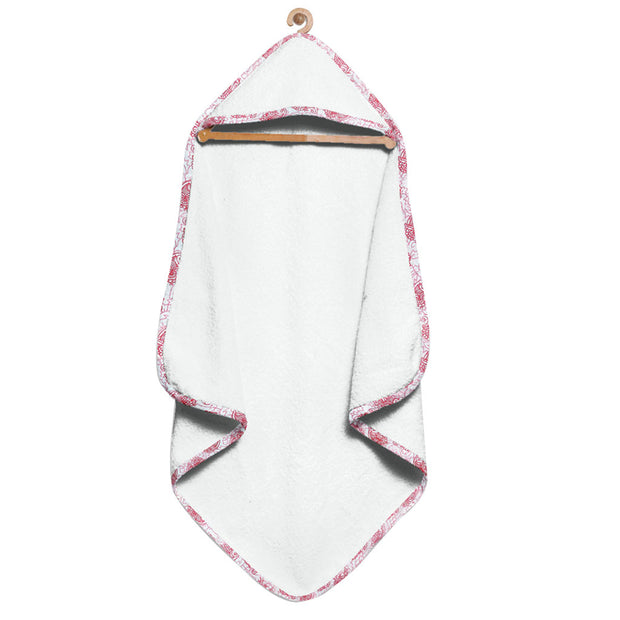 Organic White Floral Hooded Towel