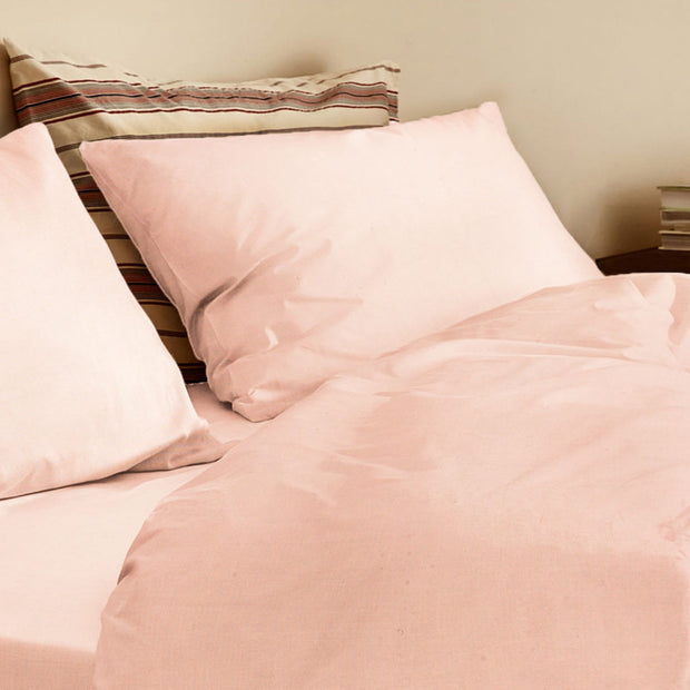 Organic Queen Duvet Cover Neutral Pink