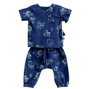 UNISEX ZOO PRINT ANGARAKHA TOP WITH MATCHING PYJAMA PANTS