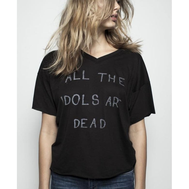 ALL THE IDOLS ARE DEAD - LOOSE FIT V NECK TEE