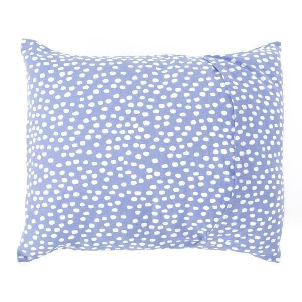Baby Pillow Cover Set without Filler Purple and White Spots