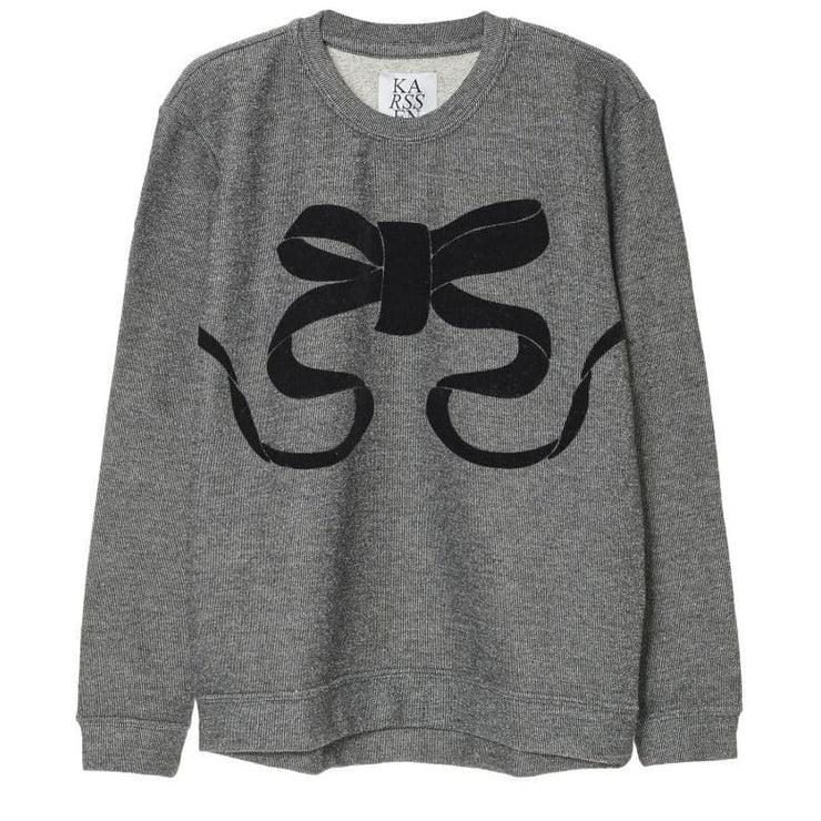 BOW - LUREX SWEAT WITH FLOCK PRINT