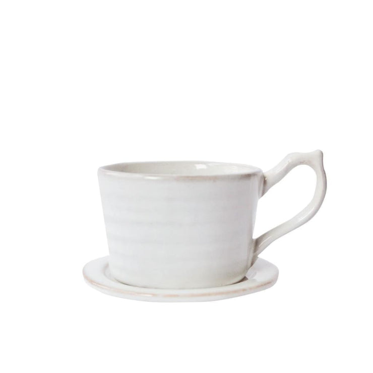 CARA CUP & SAUCER (SET OF 2) - Ceramic