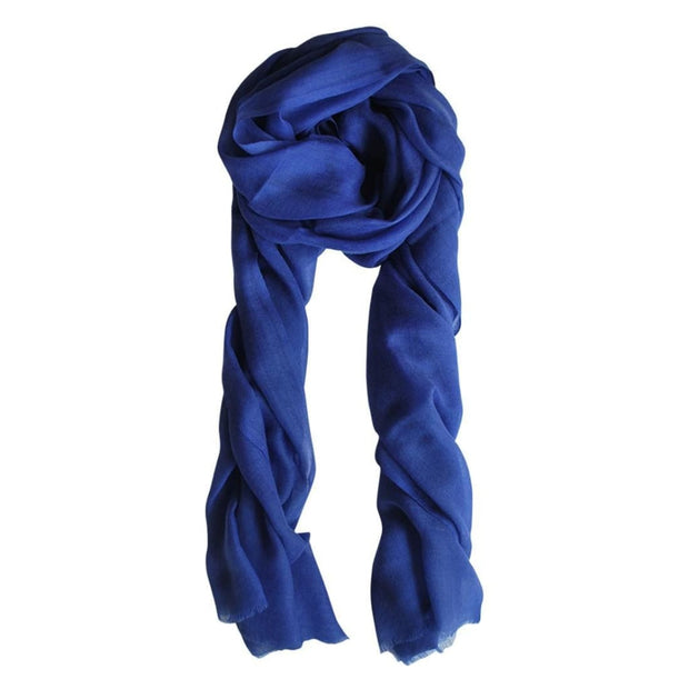 Cashmere Dazzling Blue Scarf
