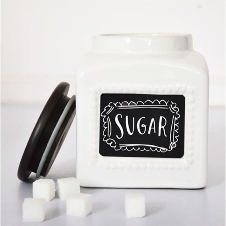 CHALK BOARD Small Jar - Stoneware