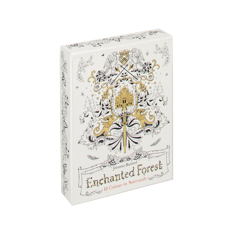 ENCHANTED FOREST :12 COLOUR-IN NOTECARDS