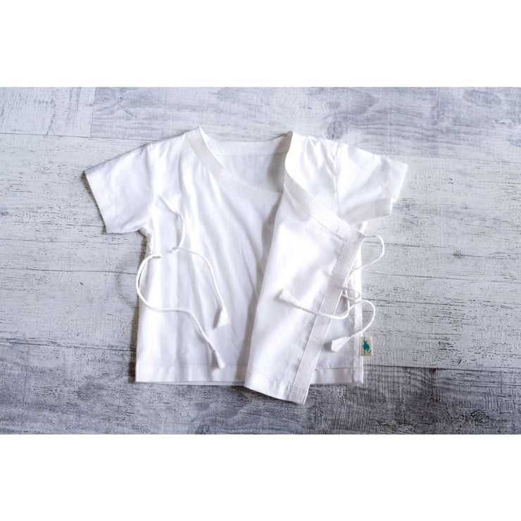 ESSENTIAL WHITE UNISEX ANGARAKHA TOP WITH PYJAMA BOTTOMS