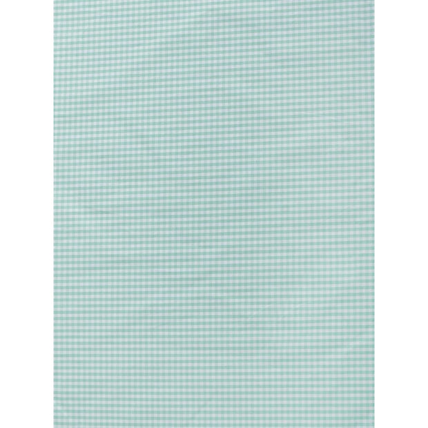 Fitted Crib Sheet Green Checks