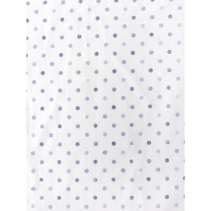 Fitted Crib Sheet Shaded Blue Dots