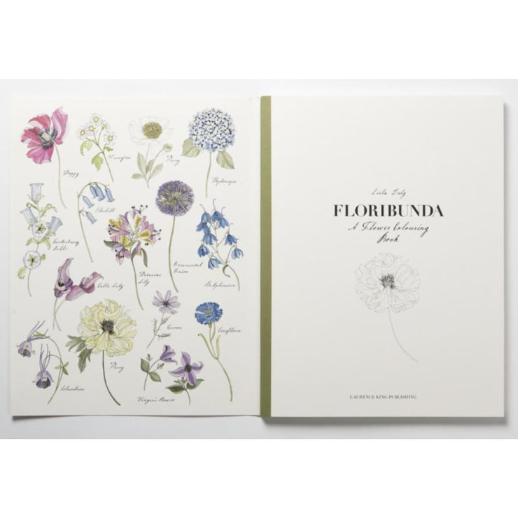 Floribunda : A Flower Colouring Book